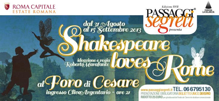 Passaggi Segreti - Shakespeare - Foro di Cesare